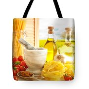 Italian Pasta In Country Kitchen Tote Bag by Amanda And Christopher Elwell