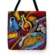 Italian Pasta Tote Bag by Leon Zernitsky