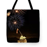 Iwo Jima Flag Raising Tote Bag by Michael Peychich