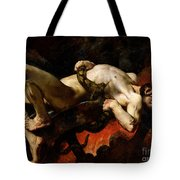 Ixion Thrown Into Hades Tote Bag by Jules Elie Delaunay