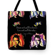 James Dean Tote Bag by Mo T