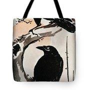 Japanese Print: Crow Tote Bag by Granger