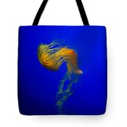 Jellyfish From The Deep Blue Tote Bag by Nila Newsom
