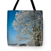 Jenne Farm Winter In Vermont Tote Bag by Edward Fielding