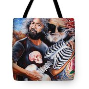 Jerry Garcia And The Grateful Dead Tote Bag by Darwin Leon