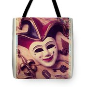 Jester mask Tote Bag by Garry Gay