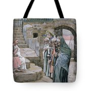 Jesus And The Little Child Tote Bag by Tissot
