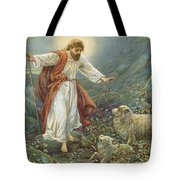 Jesus Christ The Tender Shepherd Tote Bag by Ambrose Dudley