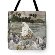 Jesus Preaching By The Seashore Tote Bag by Tissot