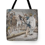 Jesus Stripped of His Clothing Tote Bag by Tissot