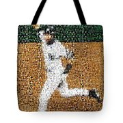 Jeter Walk-Off Mosaic Tote Bag by Paul Van Scott