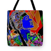 Jimi In Heaven Colorful Tote Bag by Navo Art