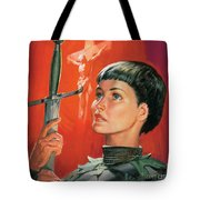 Joan Of Arc Tote Bag by James Edwin McConnell