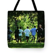 Joggers In The Park Tote Bag by Susan Savad