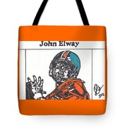 John Elway 2 Tote Bag by Jeremiah Colley