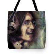 John Lennon Tribute- Don't Let Me Down Tote Bag by David Finley
