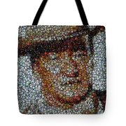John Wayne Bottle Cap Mosaic Tote Bag by Paul Van Scott