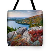Jordan Pond Sunrise  Tote Bag by Susan Cole Kelly
