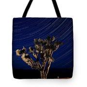 Joshua Tree And Star Trails Tote Bag by Steve Gadomski