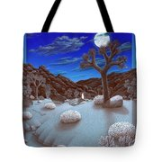 Joshua Tree At Night Tote Bag by Snake Jagger
