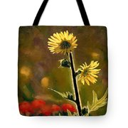 July Afternoon-compass Plant Tote Bag by Bruce Morrison