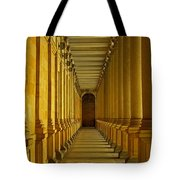 Karlovy Vary Colonnade Tote Bag by Juergen Weiss