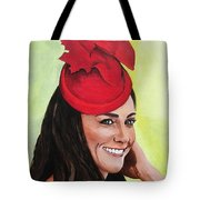 Katherine Duchess Of Cambridge Tote Bag by Betty-Anne McDonald