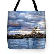 Katland Lighthouse Tote Bag by Janet King