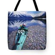 Kayak Ashore Tote Bag by Bill Brennan - Printscapes