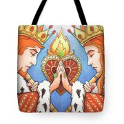 King and Queen of Hearts Tote Bag by Amy S Turner
