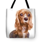 King Charles Spaniel Puppy Tote Bag by Edward Fielding
