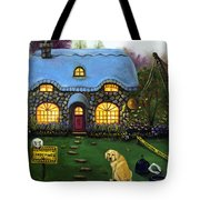 Kinkade's Worst Nightmare 2  Tote Bag by Leah Saulnier The Painting Maniac