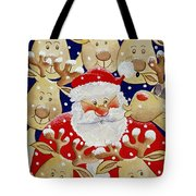 Kiss For Santa Tote Bag by Tony Todd