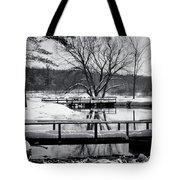 Knapp Creek at Seven Pines Lodge Tote Bag by Cynthia Dickinson