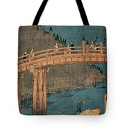 Kyoto Bridge By Moonlight Tote Bag by Hiroshige