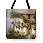 La Casa Giallo-verde Tote Bag by Guido Borelli