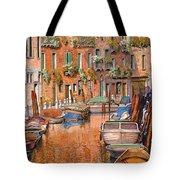 La Curva Sul Canale Tote Bag by Guido Borelli