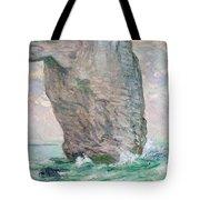 La Manneporte a Etretat Tote Bag by Claude Monet