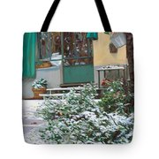 La Neve A Casa Tote Bag by Guido Borelli
