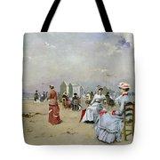 La Plage de Trouville Tote Bag by Paul Rossert