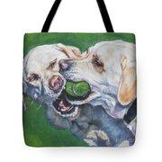 Labrador Retriever Yellow Buddies Tote Bag by Lee Ann Shepard