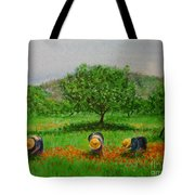 Ladies In Poppy Fields Ibiza Tote Bag by Lizzy Forrester