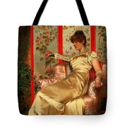 Lady Reading Tote Bag by Joseph Frederick Charles Soulacroix