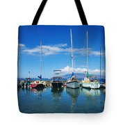 Lahaina In Blue Tote Bag by Ron Dahlquist - Printscapes