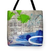 Lake Houses Tote Bag by Linda Woods
