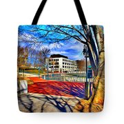 Lake Kittamaqundi Walkway Tote Bag by Stephen Younts