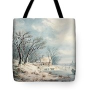 Landscape In Winter Tote Bag by JJ Verreyt