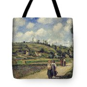 Landscape Near Pontoise Tote Bag by Camille Pissarro