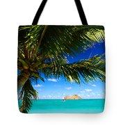 Lanikai, Palm Tree Tote Bag by Dana Edmunds - Printscapes