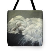 Lap Dog Tote Bag by Elizabeth  Ellis